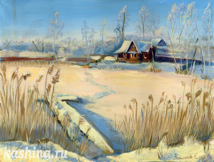 """Frozen Morning at Mstino Lake"", Evgeniya Kashina."