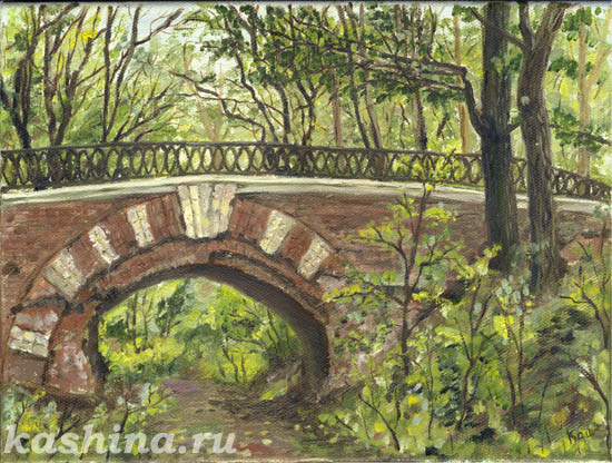 The Old Bridge in Neskuchnii Garden, a picture by Evgeniya Kashina.